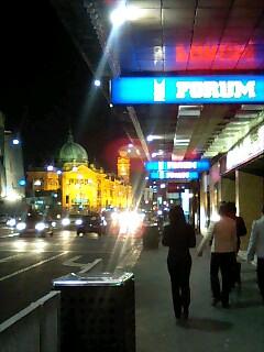 夜のメルボルン